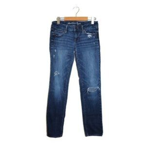 American Eagle Skinny Dark Wash Ripped Jeans
